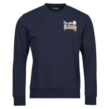 Vêtements Homme Sweats Scotch & Soda LOGO ARTWORK MELANGE FELPA Marine