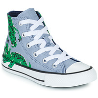 Chaussures Garçon Baskets montantes Converse CHUCK TAYLOR ALL STAR DINO DAZE HI Bleu / Vert
