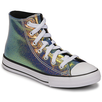 Chaussures Fille Baskets montantes Converse CHUCK TAYLOR ALL STAR IRIDESCENT GLITTER HI Argenté