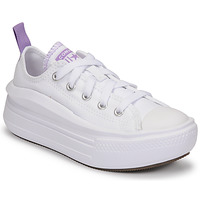 Chaussures Fille Baskets basses Converse CHUCK TAYLOR ALL STAR MOVE CANVAS OX Blanc / Rose