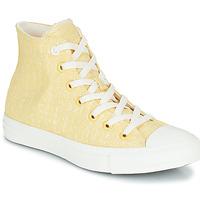 Chaussures Femme Baskets montantes Converse CHUCK TAYLOR ALL STAR HYBRID TEXTURE HI Jaune