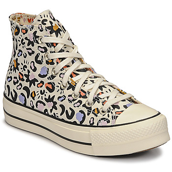 Chaussures Femme Baskets montantes Converse CHUCK TAYLOR ALL STAR LIFT MYSTIC WORLD HI Blanc / Multicolore