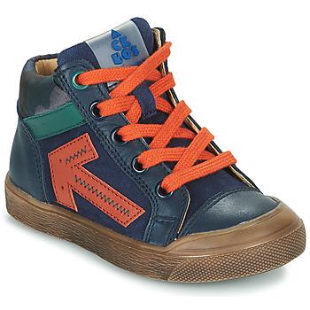 Chaussures Garçon Baskets montantes Acebo's 5567-MARINO-J Marine