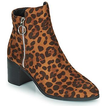 Chaussures Femme Bottines Moony Mood PETROLIA Camel