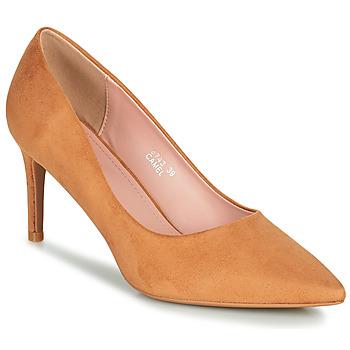 Chaussures Femme Escarpins Moony Mood PEROLINE Camel
