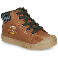 Chaussures Garçon Baskets montantes Mod'8 HERMIAN Cognac