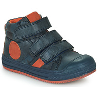 Chaussures Garçon Baskets montantes Mod'8 TALYE Marine / Orange