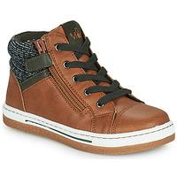 Chaussures Garçon Baskets montantes Mod'8 KYNATA Cognac