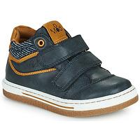 Chaussures Garçon Baskets montantes Mod'8 KYNATOL Marine / Moutarde
