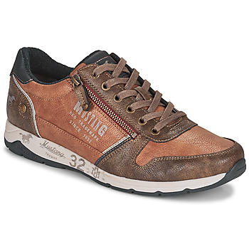 Chaussures Homme Baskets basses Mustang BRICA Marron