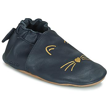 Chaussures Fille Chaussons bébés Robeez GOLDY CAT Marine
