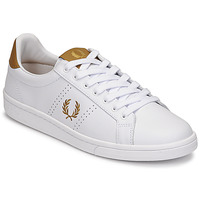 Chaussures Homme Baskets basses Fred Perry B721 LEATHER Blanc / Jaune