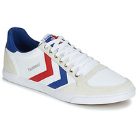 Chaussures Baskets basses Hummel TEN STAR LOW CANVAS Blanc / Rouge / Bleu