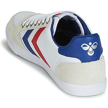 Hummel TEN STAR LOW CANVAS Blanc / Rouge / Bleu