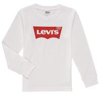 Vêtements Garçon T-shirts manches longues Levi's L/S BATWING TEE Blanc