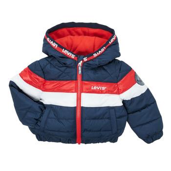 Vêtements Garçon Doudounes Levi's COLORBLOCK JACKET Marine / Blanc / Rouge