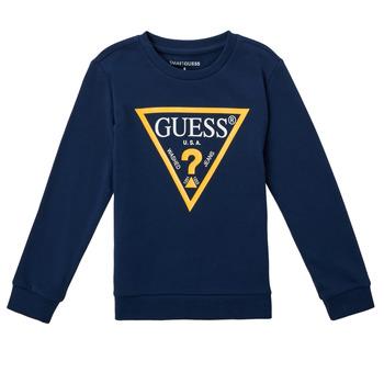 Vêtements Garçon Sweats Guess CANISE Bleu foncé