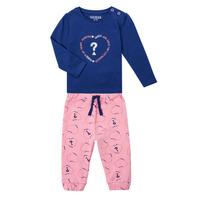 Vêtements Fille Ensembles enfant Guess ANISSA Rose / Bleu