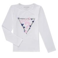 Vêtements Fille T-shirts manches longues Guess MONICA Blanc