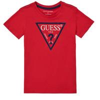 Vêtements Garçon T-shirts manches courtes Guess THOLMA Rouge