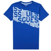 Vêtements Garçon T-shirts manches courtes Guess LISTIN Bleu