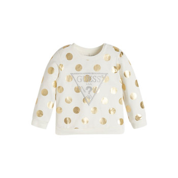 Vêtements Fille Sweats Guess KUBLO Blanc