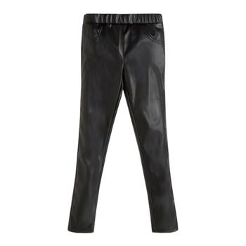 Vêtements Fille Pantalons 5 poches Guess PATALOT Noir