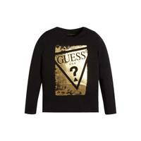 Vêtements Fille T-shirts manches longues Guess UPSET Noir