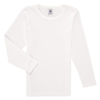 Vêtements Garçon T-shirts manches longues Petit Bateau KELOMA Blanc