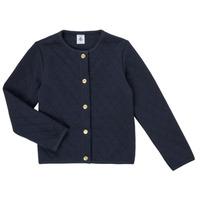 Vêtements Fille Gilets / Cardigans Petit Bateau COLYNNE Bleu