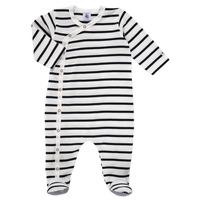 Vêtements Enfant Pyjamas / Chemises de nuit Petit Bateau ONZER Blanc / Marine