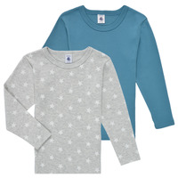 Vêtements Garçon T-shirts manches longues Petit Bateau HOQUIN Multicolore