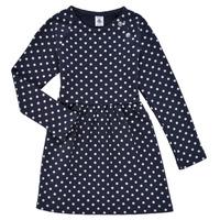 Vêtements Fille Robes courtes Petit Bateau KARREMA Bleu / Blanc
