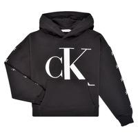 Vêtements Fille Sweats Calvin Klein Jeans SALOMA Noir