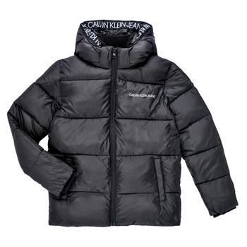 Vêtements Garçon Doudounes Calvin Klein Jeans LITHERA Noir