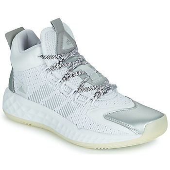 Chaussures Basketball adidas Performance PRO BOOST MID Blanc / Argenté