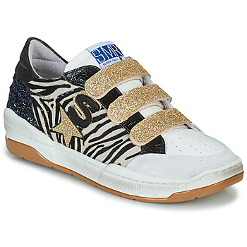 Chaussures Femme Baskets basses Semerdjian GOETH Noir / Blanc / Doré