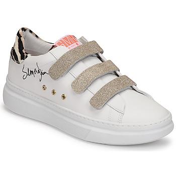 Chaussures Femme Baskets basses Semerdjian BARRY Blanc / Doré