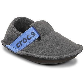 Chaussures Enfant Chaussons Crocs CLASSIC SLIPPER K Gris / Bleu