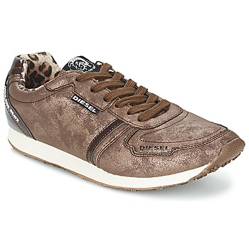 Chaussures Femme Baskets basses Diesel METAL MARRON