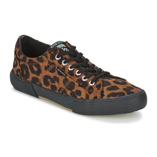 Chaussures Femme Baskets basses Diesel LEOPAR MARRON