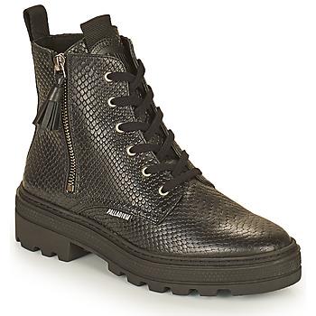 Chaussures Femme Boots Palladium Manufacture CULT 04 NAP Noir