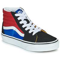Chaussures Garçon Baskets montantes Vans SK8-HI Noir / Rouge / Bleu