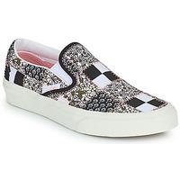 Chaussures Slip ons Vans SLIP ON Noir / Blanc / Rose