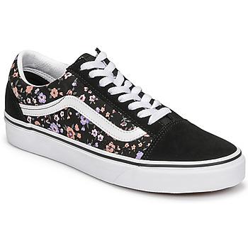 Chaussures Femme Baskets basses Vans OLD SKOOL Noir / Floral
