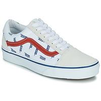 Chaussures Baskets basses Vans OLD SKOOL Blanc / Bleu