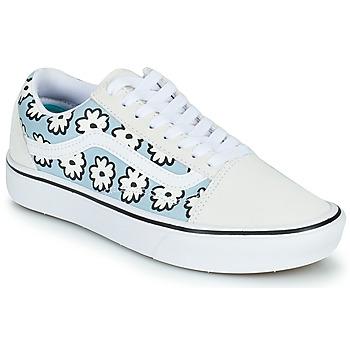 Chaussures Femme Baskets basses Vans OLD SKOOL Blanc / Bleu