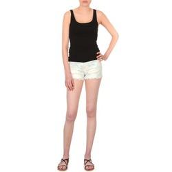 Vêtements Femme Shorts / Bermudas School Rag SELENA FLOWERS Blanc imprimé fleuri