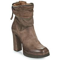 Chaussures Femme Bottines Airstep / A.S.98 BLOC ZIP Marron