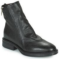 Chaussures Femme Boots Airstep / A.S.98 FLOWER ZIP Noir